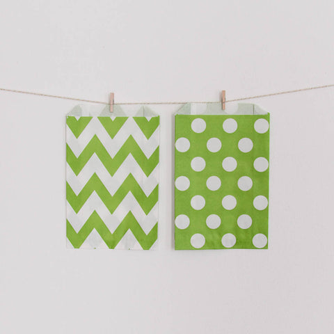 Favor Bag Lime Green