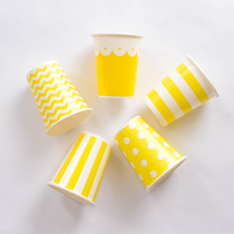 Paper Cups Yellow