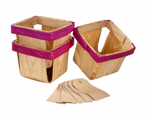Cottage Garden Wooden Baskets