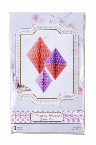 Decadent Decs Honeycomb Diamond 3pk Peach & Lilac