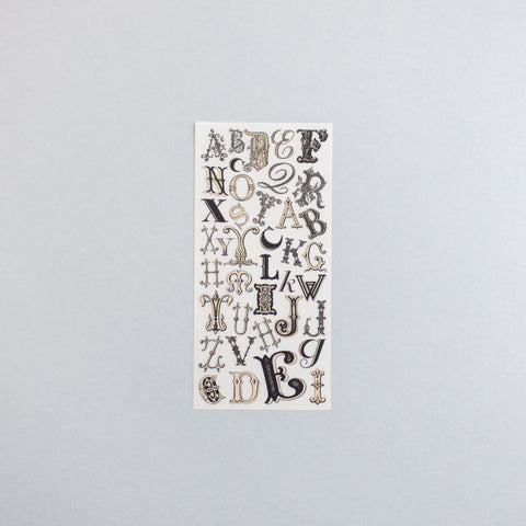 Rub On Sticker: Alphabet Initials