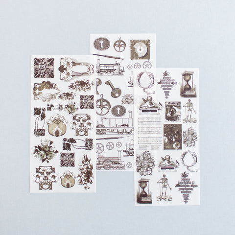 Rub On Sticker: Vintage Collections
