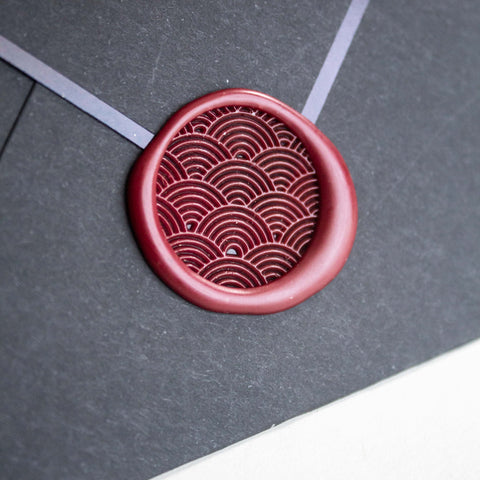 Kamon Series Wax Seal Set: Waves