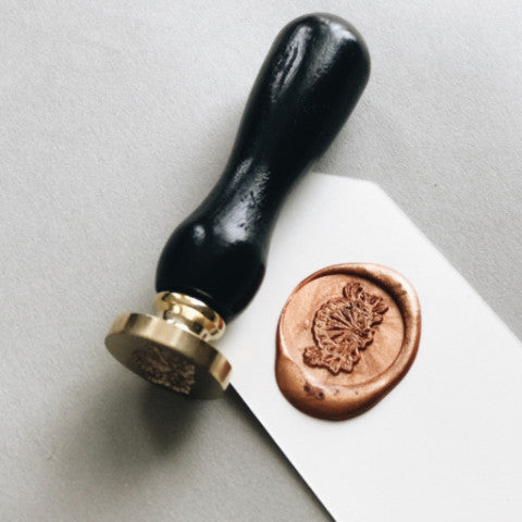 Custom Wax Seal Set with Ebony Handle