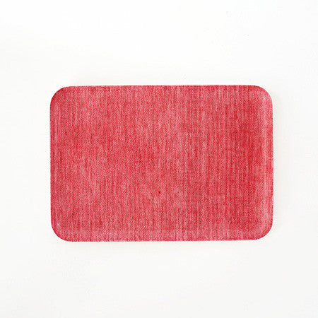 Linen Tray Red Chambray