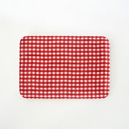 Linen Tray Red White Check