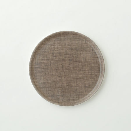 Linen Tray Round Natural