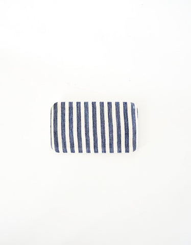 Linen Tray Blue White Stripe