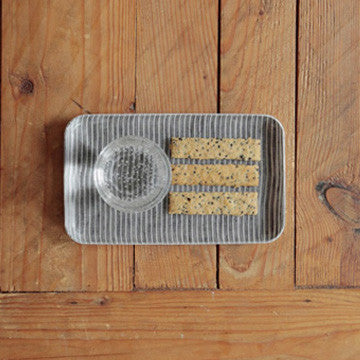 LINEN COATING TRAY S GREY WHITE STRIPE