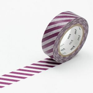 (15mm x 10 m) stripe purple