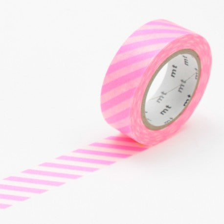 (15mm x 10 m) stripe shocking pink