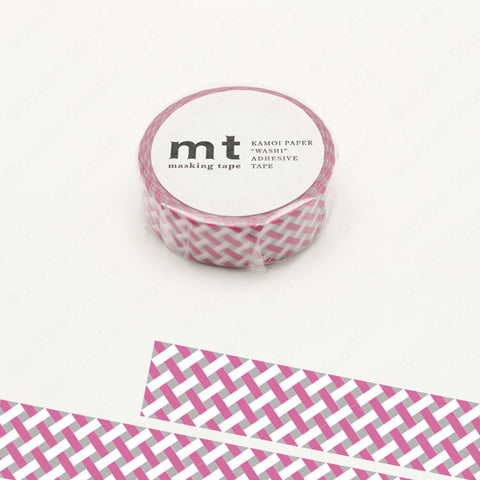 (15mm x 10 m) net check pink