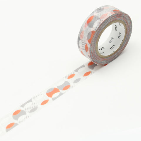 MT01D349 (15mm x 10m) overlapped dot orange
