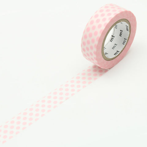 MT01D357 (15mm x 10m) dot strawberry milk