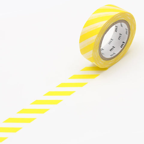 MT01D369 (15mm x 10m) stripe lemon