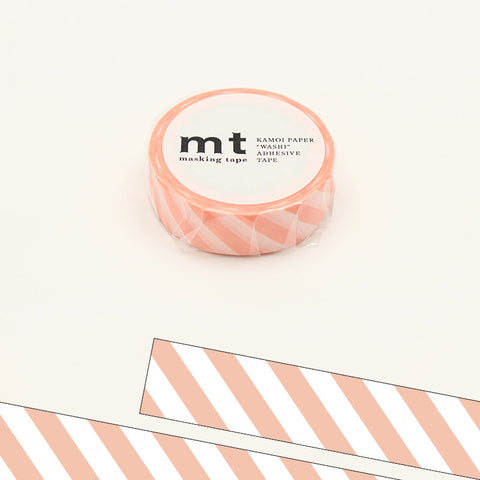 MT01D370 (15mm x 10m) stripe salmon pink