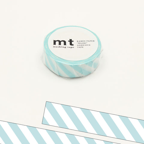 MT01D373 (15mm x 10m) stripe mint blue