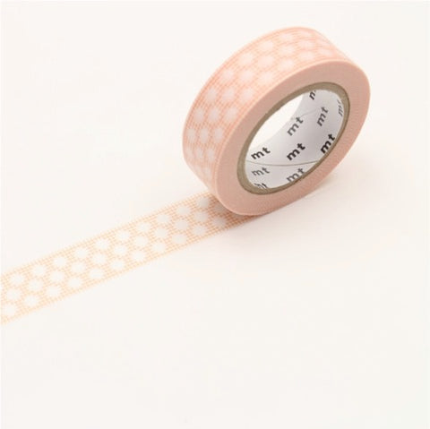 (15mm x 10 m) hougan dot peach