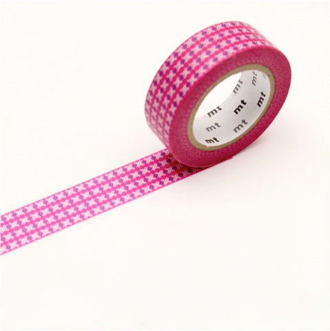 (15mm x 10 m) dot stripe pink