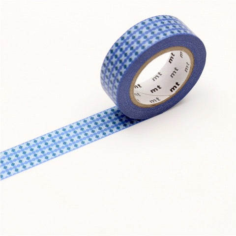 (15mm x 10 m) dot stripe blue