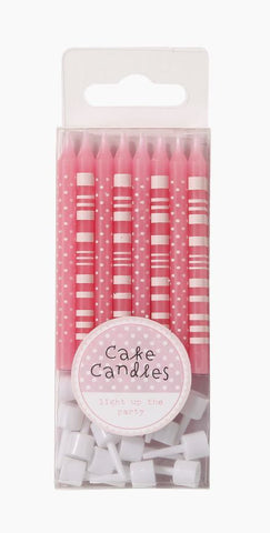 "Pink n"" Mix Candles Straight Polka Dot"""