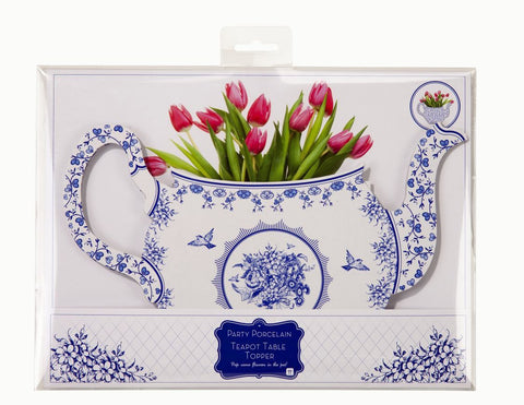 Party Porcelain Blue Teapot
