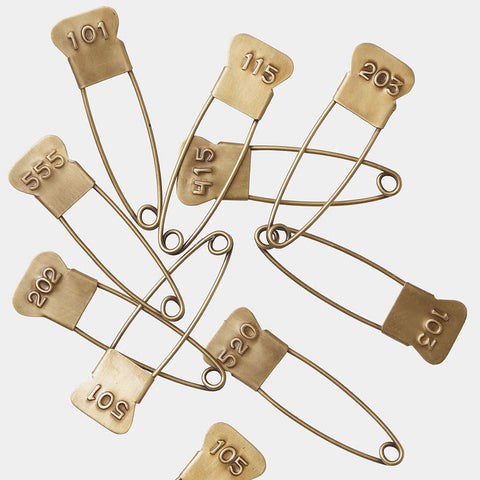 BRASS PINS WITH ASSORTED NUMBER
