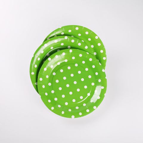 Round Paper Plate Green