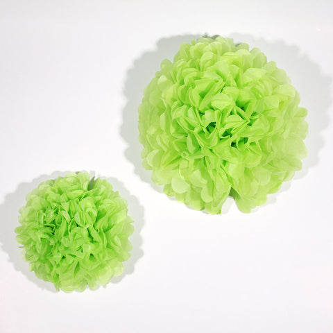 Apple Green Paper Pom