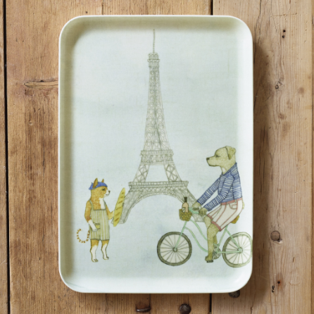 LINEN COATING TRAY M EIFFEL TOWER