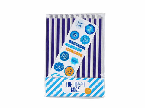 Blue Party Treat Bags & Stickers