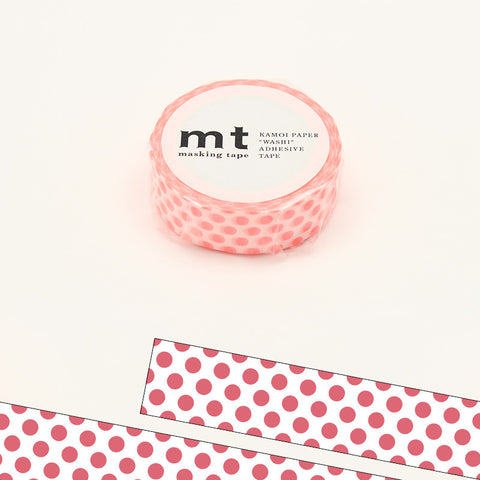 MT01D358 (15mm x 10m) dot shocking red