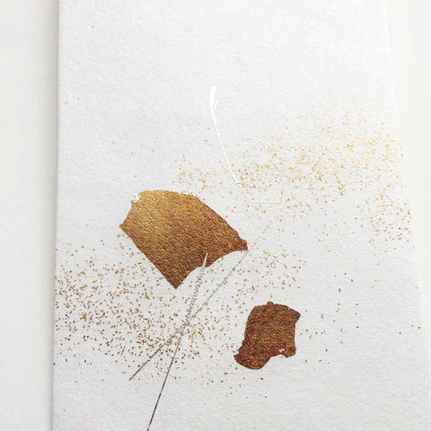 Gold Splatter Envelope