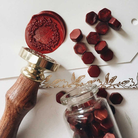 Flower Wreath Wax Seal