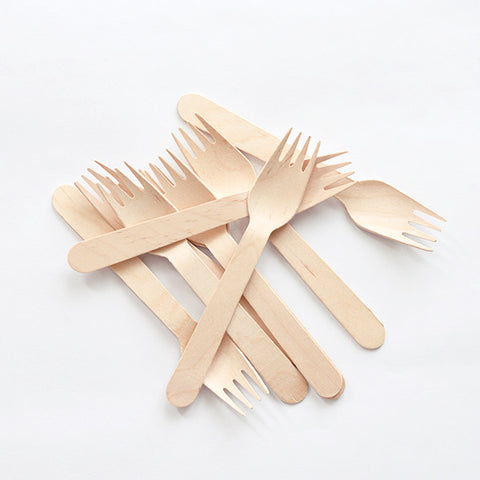 Mixed Spoon & Fork Bamboo Cutlery