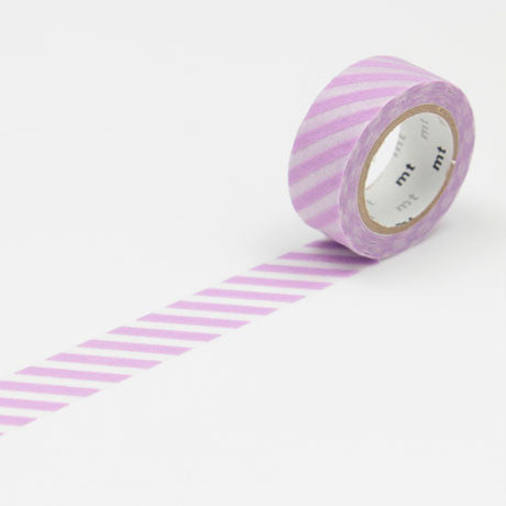 (15mm x 5m) stripe lavender (flock)