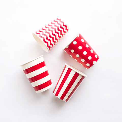 Paper Cups Red