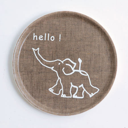 Kids Tray Round Elephant