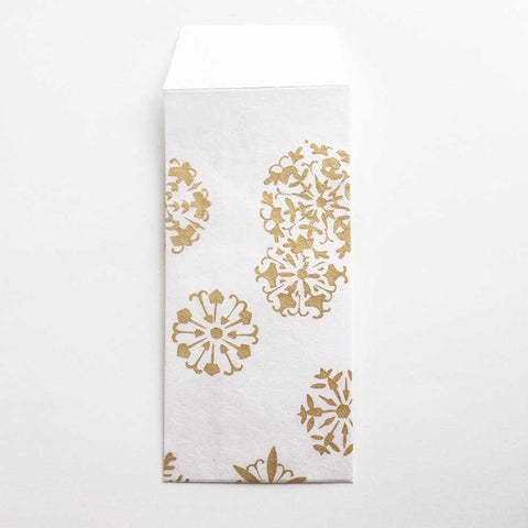 Gold Flowers Envelope