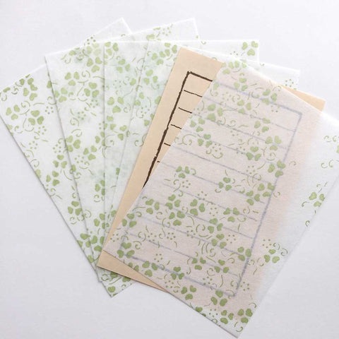 Summer Leaf Letter Set