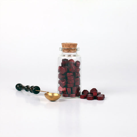 Sealing Wax Beads Wine Red & Spoon Set 10 gram