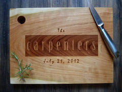 Personalized Rectangle Cutting Board - Name and Date