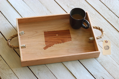 City, State or Country Serving Tray