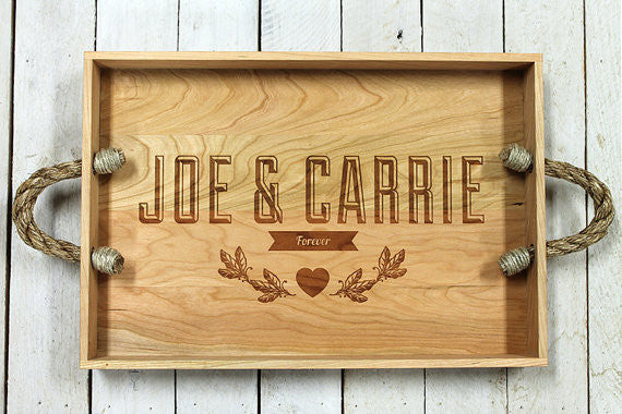 Personalized Forever Serving Tray - First Names