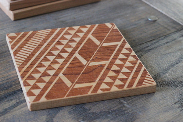 Tribal Aztec Pattern Set of 4 Coasters