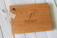 Personalized Initial Cutting Board - Initial, Name and Date