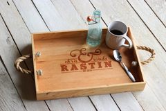 Personalized Ampersand Serving Tray - Names and Date