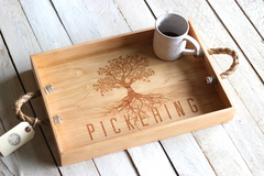 Personalized Family Tree Serving Tray - Name