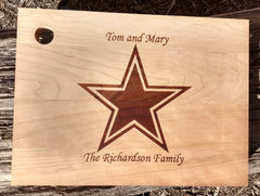 Personalized Star Cutting Board