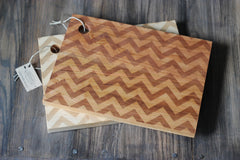 Chevron Pattern Cutting Board